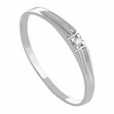 Золотое кольцо с бриллиантом Marry me