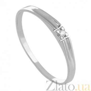 Золотое кольцо с бриллиантом Marry me VLN--122-298*