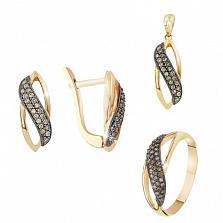 Золотой гарнитур с бриллиантами Азалия