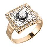 Золотое кольцо с фианитами Версаче