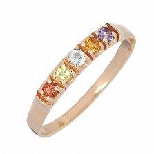 Золотое кольцо с натуральными камнями Велия