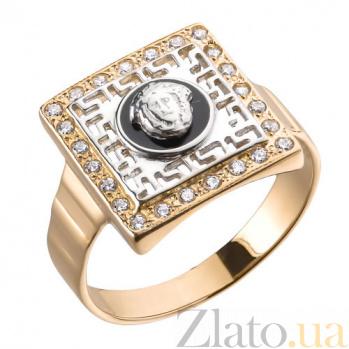 Золотое кольцо с фианитами Версаче 1862
