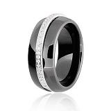 Керамическое кольцо с фианитами Эстер