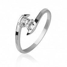 Золотое кольцо Принцесса с бриллиантом