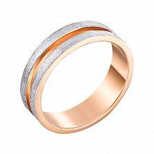 Золотое обручальное кольцо Кровь с молоком с гранжевой поверхностью, 5,5мм