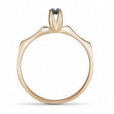 Золотое кольцо Мина с синтезированным александритом