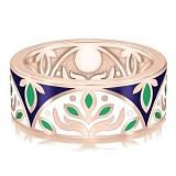 Обручальное кольцо из розового золота Талисман: Веры