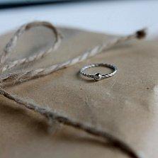 Серебряное кольцо на фалангу Rope