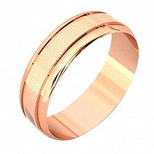 Золотое обручальное кольцо Счастливый союз