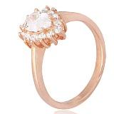 Позолоченное серебряное кольцо Шанталь с фианитами