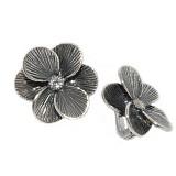 Серебряные сережки с Шафран