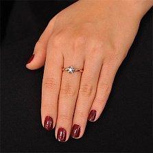 Золотое кольцо Флоренса с бриллиантом