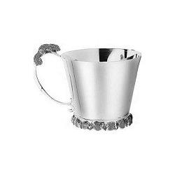 Серебряная чашка Белочка с чернением, 130мл