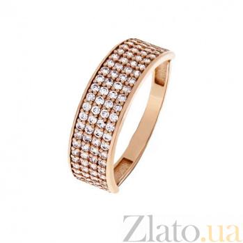 Золотое кольцо с фианитами Равелло 000022865