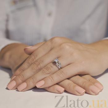Золотое кольцо с белым цирконием Винценза SUF--152244б