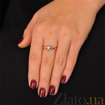 Золотое кольцо с одним бриллиантом Захра EDM-КД7522