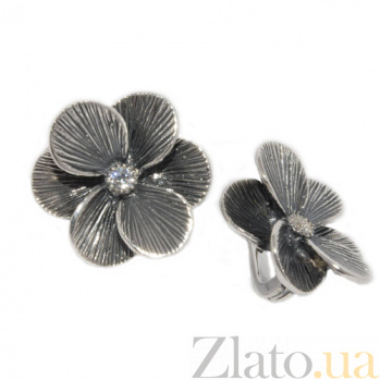 Серебряные сережки с Шафран 200295