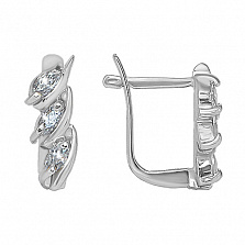 Серебряные сережки Триоль
