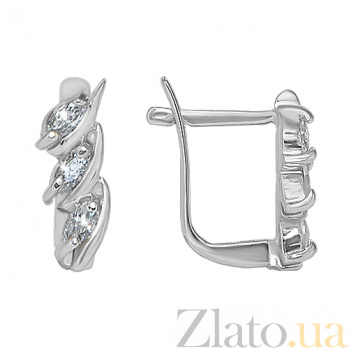 Серебряные сережки Триоль 10030051