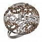 Кольцо из белого золота с коньячными фианитами Айлин VLT--ТТ1078
