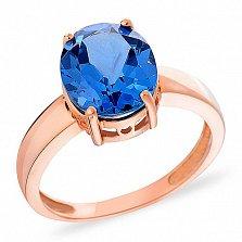 Кольцо из золота с голубым кварцем Ледяная синева