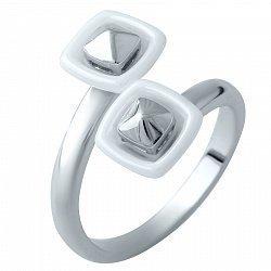 Серебряное кольцо Кандела с белой керамикой 000074187