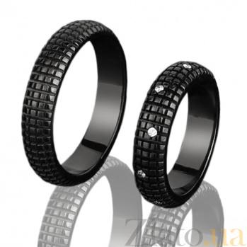 Мужское золотое обручальное кольцо Бархат ночи DAM1005