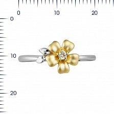Золотое кольцо Жасмин с бриллиантом