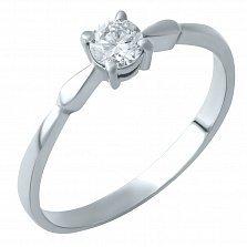 Кольцо из белого золота Эрика с бриллиантом