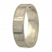Обручальное серебряное кольцо Верность