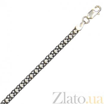 Серебряный браслет Вэйд с чернением, 19 см 000027388