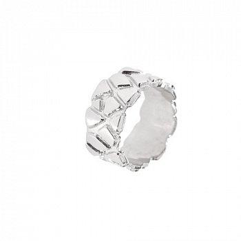 Серебряное кольцо с широкой фактурной шинкой 000098914