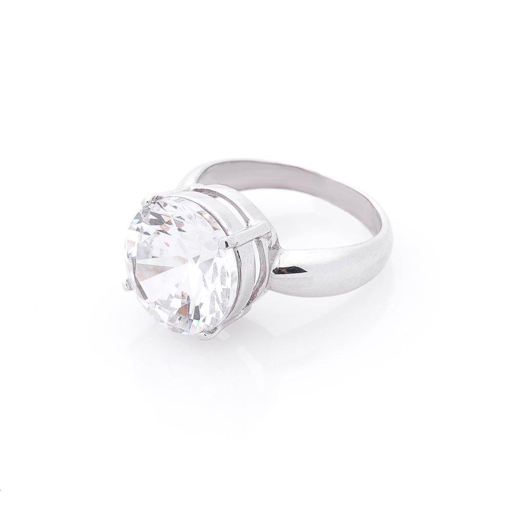 Серебряное кольцо Кармела с цирконием