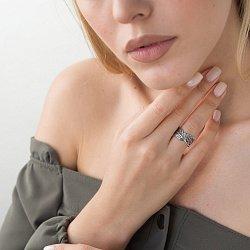 Серебряное кольцо Перо с чернением 000141285