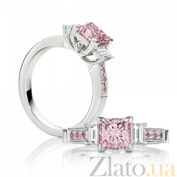 Кольцо Argile из белого золота с бриллиантами и розовыми сапфирами R-cjAr-W-7s-2d