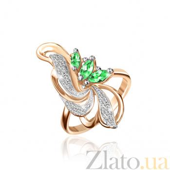 Позолоченное серебряное кольцо с фианитами Фонтан 000025432