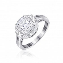 Серебряное кольцо с фианитами Карлая
