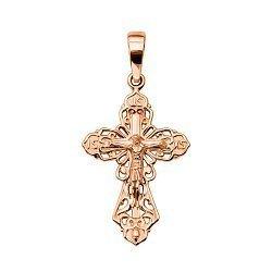 Православный крестик из красного золота 000136226