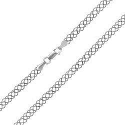 Серебряная цепочка с родием, 4 мм 000039434