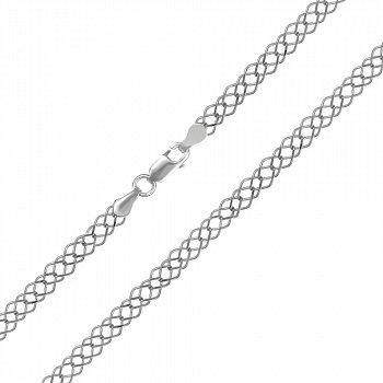 Срібний ланцюжок з родієм, 4 мм 000039434