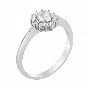 Серебряное кольцо с фианитами 000028296