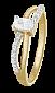 Позолоченное кольцо из серебра с фианитами Лалит 000025627