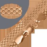 Золотой браслет Престиж в плетении четырехрядный якорь