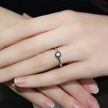 Кольцо из белого золота с бриллиантом Гликерия