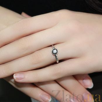 Кольцо из белого золота с бриллиантом Гликерия SVA-1190391202/Бриллиант