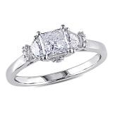 Помолвочное кольцо из белого золота Легенда с бриллиантами