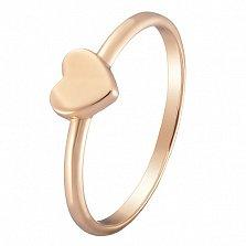 Кольцо Сердечко в желтом золоте