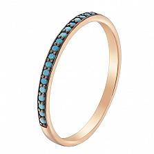 Кольцо в красном золоте Нинель с бирюзой