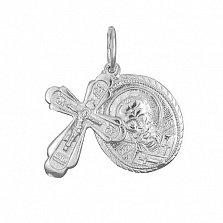 Серебряный крестик с ладанкой Святой Покровитель