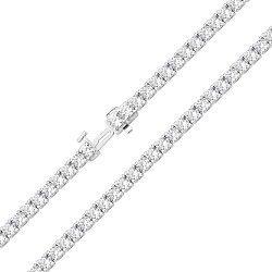 Серебряный браслет с фианитами 000140363